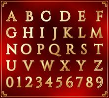 Guld alfabet set