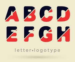 Buchstabe Logo Schriftart vektor
