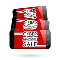 Mobiltelefon Cyber Monday4 vektor