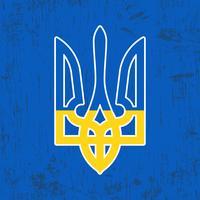 Ukraine Dreizack Stempel vektor