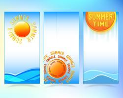 Sommarförsäljning broschyr eller flygblad täckmall vektor