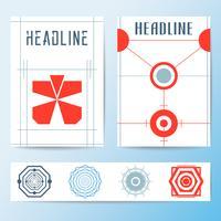 Abstrakt omslag broschyr mall vektor