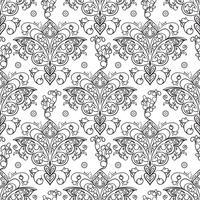 Nahtlose Muster von russischen Motiven der Nordmalerei vektor