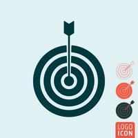 Zielsymbol isoliert