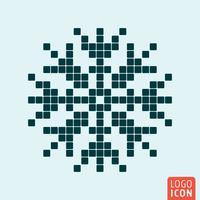 Schneeflocke-Icon-Set