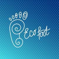 Eco Fuß. Logo des Gesundheitszentrums, orthopädischer Ökosalon.