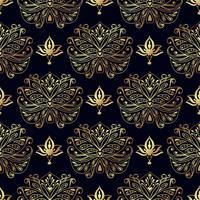 Nahtlose Muster von russischen Motiven der Nordmalerei