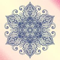 Mandala. Blumenweinlese rundes Amulett tatoo