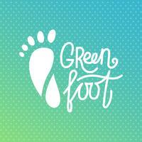 Grön fot. Health Center-logotyp, ortopedisk ekosalong.