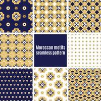 Set av arabiska sömlösa mönster, vektor