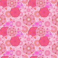 Gypsy sömlös mönster av abstrakta mångfärgade runda mandalaer. Etnisk bakgrund vektor