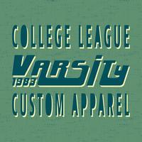 College vintage frimärke vektor