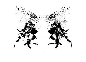 rorschach inkblot test vektor