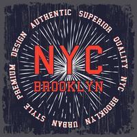 Weinlese NYC Plakat
