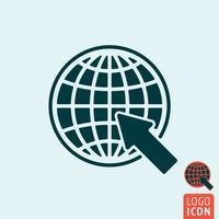 Webbsida ikon isolerad vektor