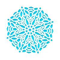 Vorlage Schneeflocken lasergeschnitten und graviert. vektor