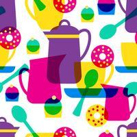 Tea Time nahtlose Muster vektor