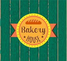 Samling av vintage retro bakeri logotyp