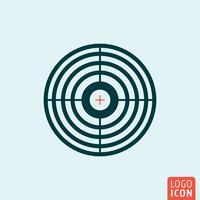 Target crossnair ikon vektor