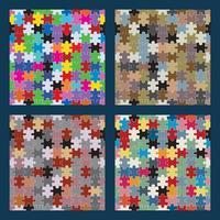 Puzzle nahtlose Set