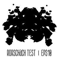rorschach inkblot test illustration vektor