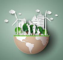 Papierschnitt von eco