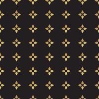 Universalvektorschwarzes und Goldnahtloses Muster, deckend mit Ziegeln.
