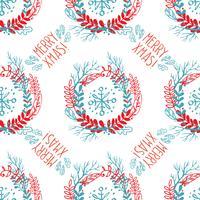 Seamless mönster av julkransar.