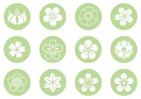 blommig cirkel vektor pack
