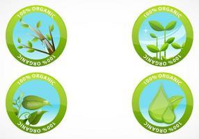 Organisk etikett Vector Pack