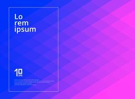Abstrakte geometrische Quadrate kopieren rosa und blauen Steigungsfarbhintergrund mit Kopienraum.