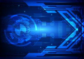 Digitaltechnik-Vektorillustration des blauen abstrakten Hintergrundes