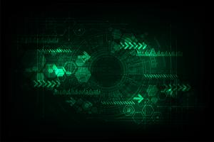 Abstraktes Hintergrund-Technologiekonzept des Vektors. vektor