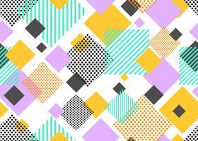 Seamless mönster av färgglada triangeln geometrisk modern form på vit bakgrund - Vektor illustration