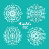 Satz dekoratives und dekoratives Design der Mandala