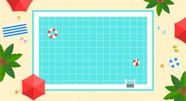 Sommerferien, Swimmingpoolplakat-Vektorillustration vektor