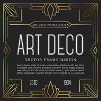 Vintage art deco stil. vektor illustration