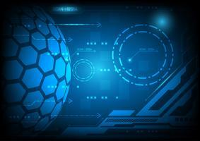 Blå abstrakt bakgrund digital teknik koncept, vektor illustration med kopia utrymme