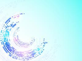 Vektorhintergrundtechnologie im Konzept von digitalem.