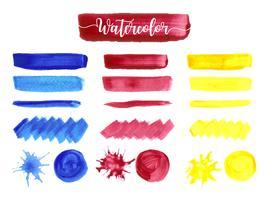 Aquarell-Anschlagdesign des abstrakten Mehrfarbenhandabgehobenen betrages.