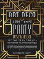 Luxus Vintage Frame Art-Deco-Stil. Vektor-Illustration