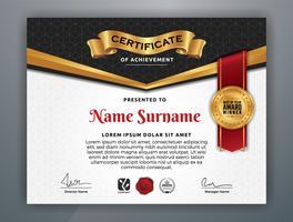 Professionelles Mehrzweck-Zertifikat-Vorlagendesign