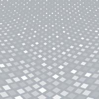 Abstrakte Halbtonmusterperspektive des weißen Quadrats auf grauem Hintergrund.
