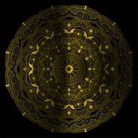 Dekorative Vektorillustration der Goldfarbmandala-Weinlese