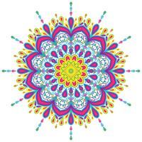 Bunte Mandalaweinlesedekorationselement-Vektorillustration