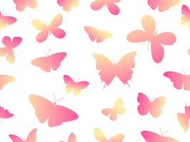 Nahtloser bunter Schmetterlingsmusterhintergrund der Vektorillustration vektor