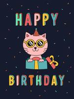 Lustige Katzen-Geburtstags-Karte