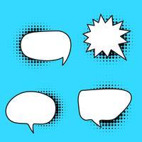 Komische Art-Spracheblase im Vektor