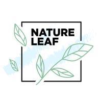 Einfaches Design der botanischen Illustration der Natur