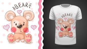 Niedliche Birne - Idee für Druckt-shirt vektor